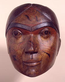 Large wooden Haidan female mask