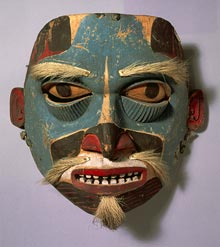Large wooden Haida mask